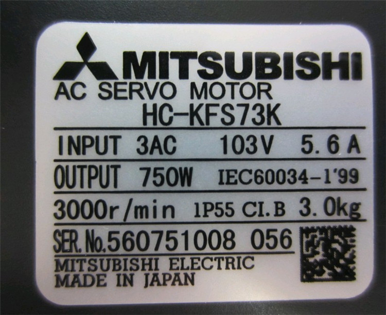 Details about  /Used one HC-KFS73K Brand Mitsubishi tested